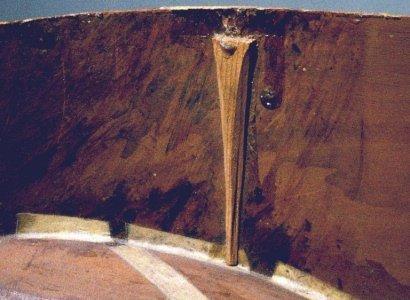 Soundboard bar rest support of the Chambure (E.0748) vihuela