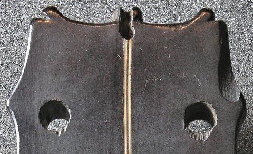 Peg head button hole of the Dias vihuela