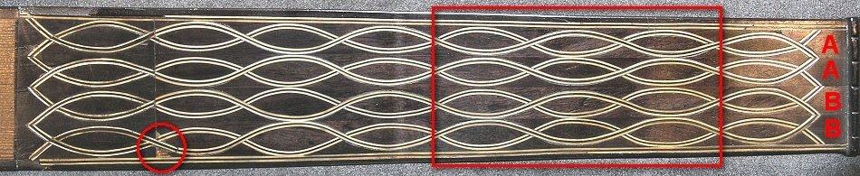 Fingerboard of the Dias vihuela