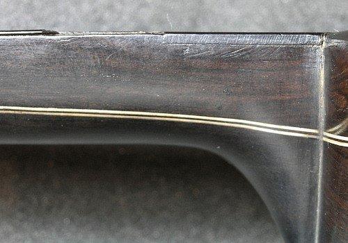 Left side of the neck of the Dias vihuela