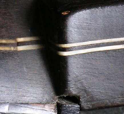 Peg head spacer of the Dias vihuela (detail)