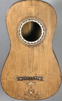 Soundboard of the Sanguino guitar